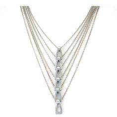 Repurposed Statement Necklace  Multi strand silver  by betsyandiya, $139.00