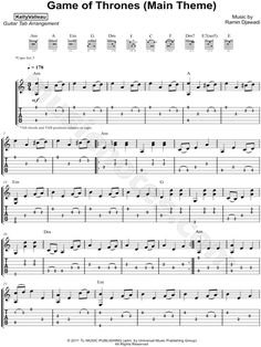 Print and download Kelly Valleau Game of Thrones (Main Theme) Guitar TAB. Includes Guitar TAB for Guitar in A Minor. Guitar Acoustic Songs, Guitar Tabs And Chords, Music Theory Guitar, Guitar Tabs Songs, Music Tabs, Easy Guitar Songs, Music Chords, Ukulele Tabs, Lyrics And Chords