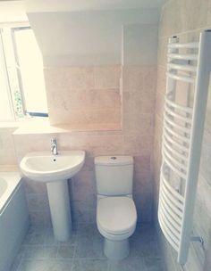 Travertine wall tile Topps Tiles, Style Tile, Travertine, Wall Tiles, Toilet, Stone, Room Tiles, Flush Toilet, Rock