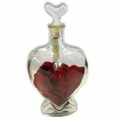 Heart of Roses Message in a Bottle