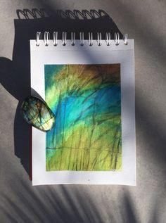 Labradorite, Watercolor Art, Acrylic Paintings, Abstract, Green, Summary, Watercolor Painting, Watercolour