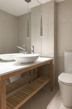Toilette - Vanitory de madera - Atena Building - amenities by alejandra nusenovich at Coroflot.com Bathroom Inspiration, My Dream Home, Ideas Para, Art Deco, Interior Design, House, Home Decor, Modern Wooden Furniture, Home Furniture