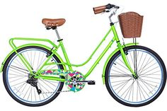 Vintage Fashion and Lifestyle Gama Bikes Women's City Avenue Step-Thru 6 Speed Shimano Hybrid Urban Cruiser Commuter Road Bicycle, 26-inch wheels