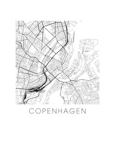 Copenhagen Map Print by iLikeMaps on Etsy