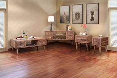 International Furniture Direct Retro End Table 610828
