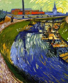Women Washing on a Canal, Vincent van Gogh 1888