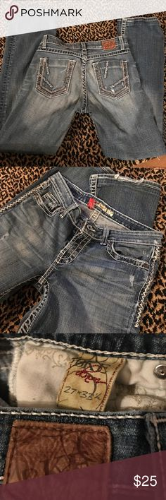 BKE jeans Excellent condition a little frayed on the hem and a 30 inch inseam BKE Jeans Boot Cut