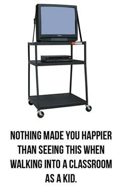 hahaha! so true. - I remember putting our TV on a Microwave cart.