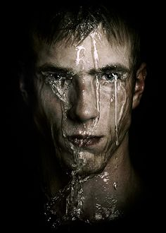 "♂ Man portrait face under water ""Flood"" by Lauri Laukkanen"