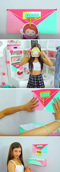 Emoji Mood Board | Click Pic for 20 Cool DIY Projects for Teen Girls Bedrooms | Easy Crafts for Teen Girls to Make
