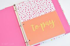 How to create a pretty budget binder using your Cricut!
