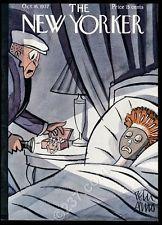 October 16 1937 New Yorker magazine framing cover startled burglar Peter Arno NM