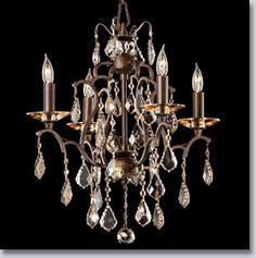 Rouen Collection Medium Crystal Chandelier. $1158.  GrandLight.com