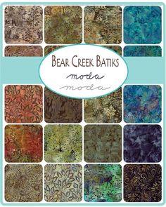 Moda Fabrics - Bear Creek Batiks - 20pcs / Fat Quarters