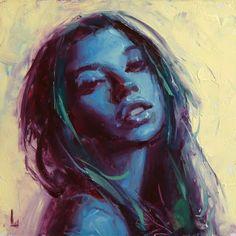 "Daily Paintworks - ""Blue Anew"" - Original Fine Art for Sale - © John Larriva Art Pictures, Art Images, John Larriva, Girl Face Drawing, Renaissance Portraits, Hippie Art, Sculpture, Fine Art Gallery, Portrait Art"