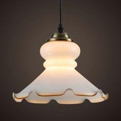 European Style Glass Pendant Lamps Modern Minimalist White Lotus Leaf Pendant Lamps Dining Room Lamps