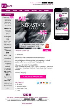 5% discount for 2 days on all Kérastase products.