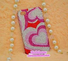 Heart iPhone 5 case Love iPhone 4 case Bling by Elodieforever, $25.99