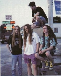 The young mates of Carcass! Extreme Metal, Death Metal, Carcass Band, Metal Bands, Rock Bands, Musica Metal, Boys Long Hairstyles, Poses References, Heavy Metal Music