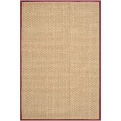 Safavieh NF114D Natural Fiber Natural/Red Area Rug