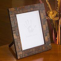 Wood photo frame, 'Great Memoirs' (8x10)
