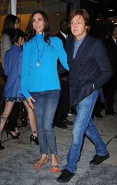 Nancy Shevell and Paul McCartney.