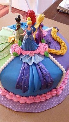 New Ideas for cake decorating disney princess birthday parties Disney Princess Birthday Party, Birthday Parties, Disney Princess Cakes, 5th Birthday, Princess Theme, Birthday Ideas, Barbie Birthday Cake, Princess Sofia, Happy Birthday