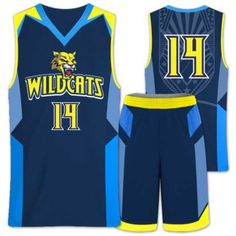 44eda192bca Basketball Uniforms · Elite Wildcat *Fully Decorated & Designed by YOU!  Reversible price: $90.45* Custom