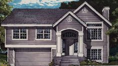 New American House Plan with 1203 Square Feet and 3 Bedrooms from Dream Home Source   House Plan Code DHSW27013