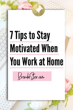 Learn how to stay motivated when your work from home. People struggle with work at home jobs because they don't have a team to draw energy from or a boss to hold them accountable. Use these expert tips on motivational techniques to stay productive and keep yourself organized. #SocialMediaMarketing Don't forget to repin this for later!! Work From Home // Work From Home Tips // Direct Sales // Direct Sales Tips // Social Marketing
