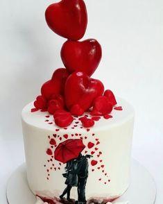 """3,912 curtidas, 10 comentários - @cassianedorigon (@ideiasdebolosefestas) no Instagram: """"Lindo bolo para um casal apaixonado... Pic via Pinterest. #ideiasbolosefestas #ideiasdebolosefestas…"""""""