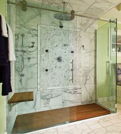 Custom Teak Mat For Walk In Shower The Bath Pinterest