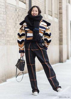 Street style, mixed patterns, fashion week, New York City / Garance Doré