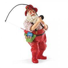 Possible Dreams Santas -  Hooked a Big One // Department56corner.com