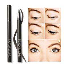 Focallure 1 Adet Su Geçirmez Eyeliner Kalem Uzun Ömürlü Göz Kalem Güzellik Kozmetik Eyeliner Makyaj Sıvı Eyeliner Kalem