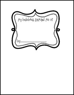 bubbles writing sheet freebie