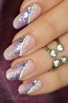 lace nail art 30 - 50  Intricate Lace Nail Art Designs   <3