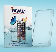 Favam - iPhone 6 Plus Clear Case with free screen protector* Designer- Girls✔️Guys✔️Ultra Slim〰TPU Hybrid Side Bumper- Scratches & Oil Resistant- Protect your Investment-Lifetime Guarantee by FAVAM