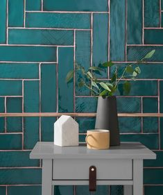 Lampas Peacock has been unveiled as Topps Tiles& Tile of the Year 2019 These ceramic wall tiles will make a big statement. Bad Inspiration, Bathroom Inspiration, Bathroom Wall, Small Bathroom, Bathroom Ideas, Teal Bathrooms, Bathroom Pink, Art Deco Bathroom, Downstairs Bathroom