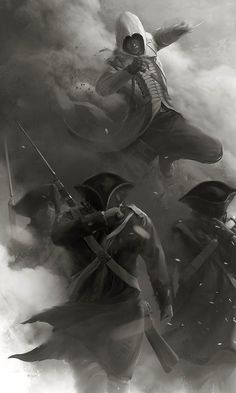 View an image titled 'Assassination Art' in our Assassin's Creed III art gallery featuring official character designs, concept art, and promo pictures. The Assassin, Assassins Creed Ii, Assasin Creed Unity, Assasins Cred, Connor Kenway, Assassin's Creed Wallpaper, Geeks, Charmed Book Of Shadows, All Assassin's Creed