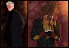 Image result for dramione kissing fanart