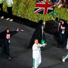 First women from Saudi Arabia to participate in the Olympic Games.  Now that's something to cheer about!!!