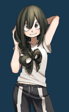 Asui Tsuyu from My Hero Academia. Because she's just so awesome. All clever and direct.