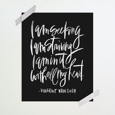 i am in it with all my heart. :: Vincent Van Gogh