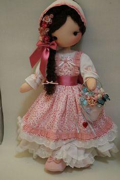 Risultati immagini per molde fidelina dolls Pretty Dolls, Cute Dolls, Beautiful Dolls, Doll Clothes Patterns, Doll Patterns, Waldorf Dolls, Soft Dolls, Cute Crochet, Amigurumi Doll
