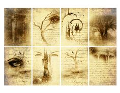 #Free  Book of Shadows Halloween ATC Backgrounds