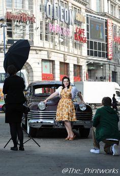 The #vintage #photoshoot here @The_Printworks last week!