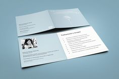 Brochure and business card for a psychologist.
