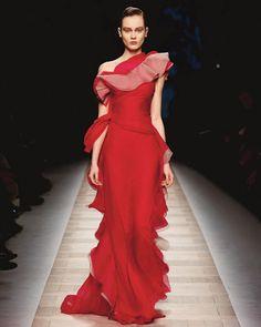Vestito da sera rosso valentino