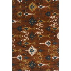 "Surya Surroundings Rust Rug Rug Size: Runner 2'6"" x 8'"